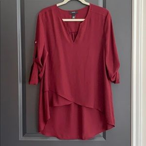 Alfani top maroon size 12, never worn